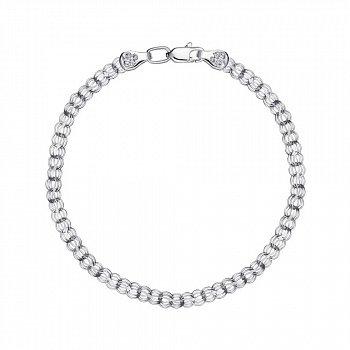 Серебряный браслет в плетении ручеек 3 мм 000148324