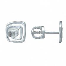 Серебряные серьги-пуссеты Viva