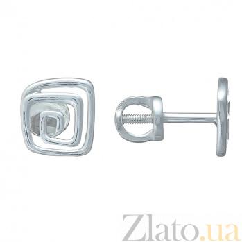Серебряные серьги-пуссеты Viva HUF--2309