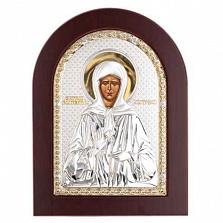 Икона серебро с позолотой Матроны Московской