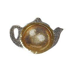Серебряное ситечко для чая Старинный чайник с позолотой