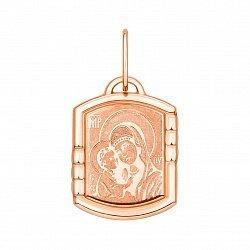 Ладанка из красного золота Богородица 000133298