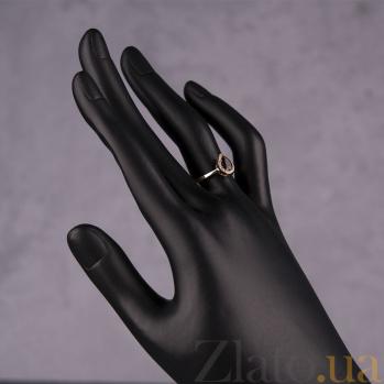 Золотое кольцо Инесса с гранатом и цирконием 000032270