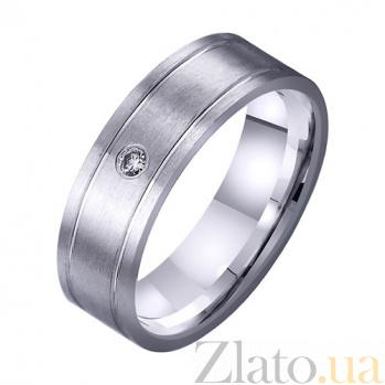 Золотое обручальное кольцо Бесконечность любви с фианитом TRF--4221719