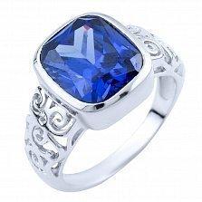Серебряное кольцо Дебора с синтезированным танзанитом