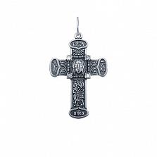 Серебряный крестик с фианитами Вера