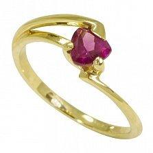 Кольцо из желтого золота Мэган с гранатом
