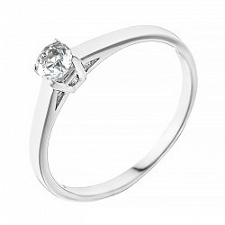 Кольцо из белого золота с бриллиантом Единственная