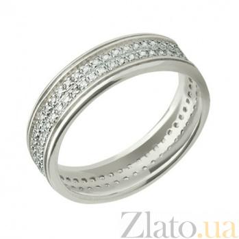 Обручальное кольцо из белого золота Сияние счастья VLT--ТТ166-0