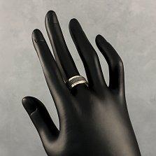 Серебряное кольцо Риардо с чернением и золотыми накладками