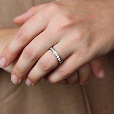 Обручальное кольцо из белого золота  с бриллиантами Преклонение