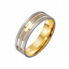 Золотое обручальное кольцо Моя нежная мелодия