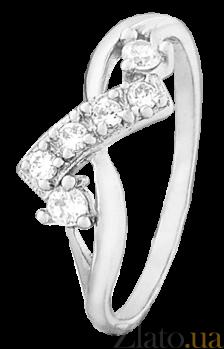 Кольцо из серебра с фианитами Клеменс 000025799