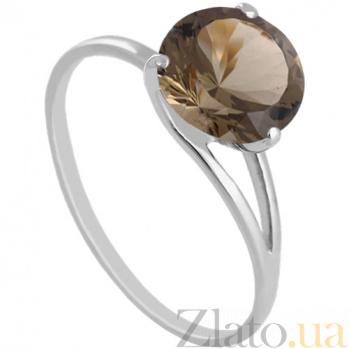 Кольцо из белого золота с раухтопазом Селесте 000029469