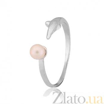 Серебряное кольцо с жемчугом Грета 000028041