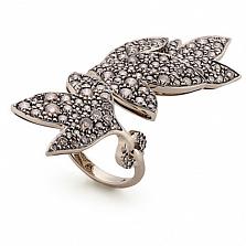 Кольцо Hera с коньячными бриллиантами