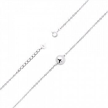 Серебряный браслет с серебряным шаром в плетении бельцер 000113855