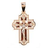 Золотой крест с яшмой и цирконием Убеждение