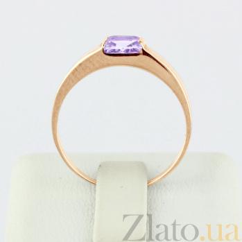 Золотое кольцо с аметистом Аделина VLN--112-186-4