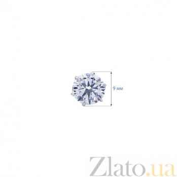 Серебряные пуссеты с цирконами Лидия AQA--S220540027/8