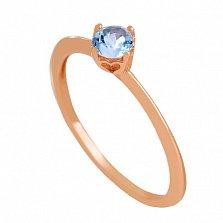 Золотое кольцо с топазом Элинора