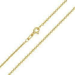 Золотая цепь классического якорного плетения в желтом цвете, 1мм 000091885