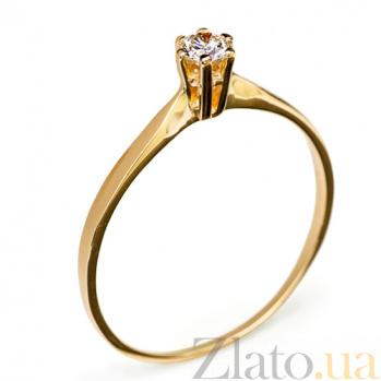 Кольцо из желтого золота с бриллиантом Ирэна R 0567