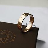 Золотое обручальное кольцо Мир и лад