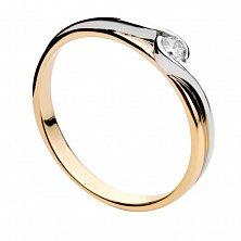 Золотое кольцо с бриллиантом Аделина