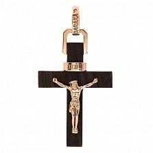 Крест из эбенового дерева со вставками золота Возрождение