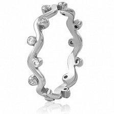Золотое кольцо с кристаллами Swarovski Алана