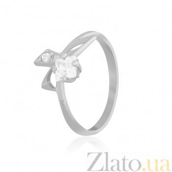 Серебряное кольцо с белыми фианитами Жаклин 000025546
