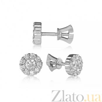 Золотые серьги с бриллиантами Софья EDM--С7356/1G