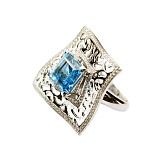 Золотое кольцо с топазом и бриллиантами Магдала