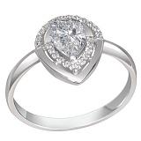 Золотое кольцо с бриллиантами Пылкая любовь