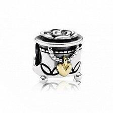 Серебряный шарм Шкатулка с драгоценностями в стиле Пандора