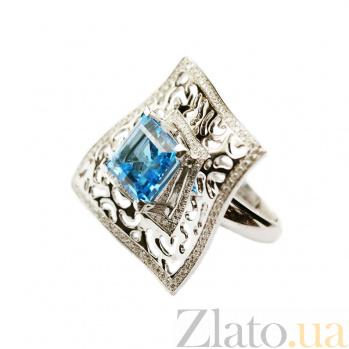 Золотое кольцо с топазом и бриллиантами Магдала 1К033-0229
