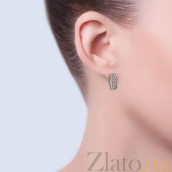 Серебряные серьги с золотом и фианитами Киллена AQA-219Ср