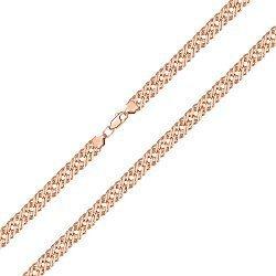 Браслет из красного золота в плетении Ромб, 7,5 мм 000143823