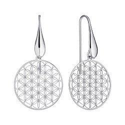 Серебряные серьги-подвески 000147354