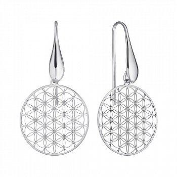 Срібні сережки-підвіски 000147354