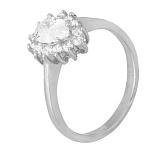 Серебряное кольцо с белыми фианитами Пенелопа
