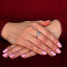 Серебряное кольцо Горная чистота с кварцем london blue и фианитами