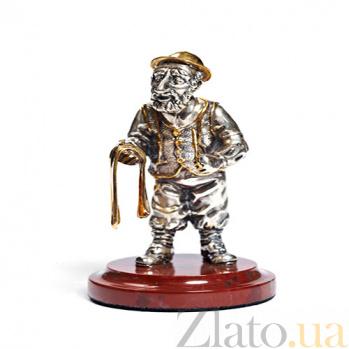 Серебряная статуэтка Парикмахер 1055
