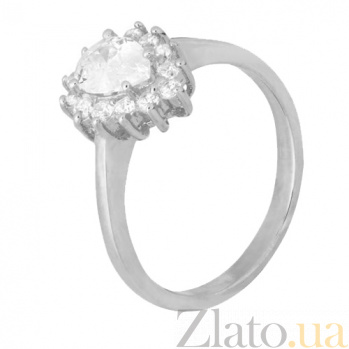 Серебряное кольцо с белыми фианитами Пенелопа 000028281