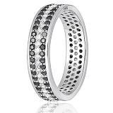 Серебряное кольцо Силиция с фианитами