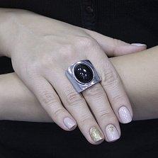 Серебряный перстень Нелли с черным агатом