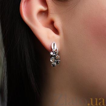 Серебряные серьги Цветы сирени AUR--72731*