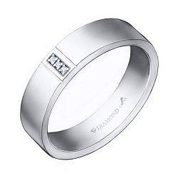 Серебряное кольцо с бриллиантами 000046031
