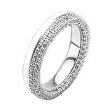 Женское золотое обручальное кольцо Вдохновленные друг другом с бриллиантами и эмалью